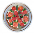 Liver pie with tomato and verdure — Stock Photo