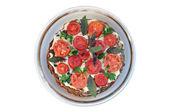 Pastel de hígado con tomate y verdor — Foto de Stock
