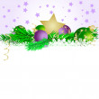 Christmas star and   balls 3 - Imagen vectorial