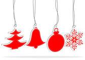 クリスマスの赤の要素を設定します。 — ストックベクタ