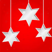 Tre jul stjärnor — Stockvektor