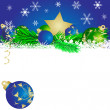 Royalty-Free Stock Vector Image: Christmas star and   balls 4