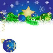 Christmas star and balls 4 — Stock Vector