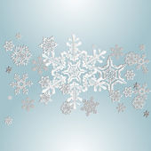 Snowflake on blue background 2 — Stock Vector
