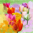 Stock Photo: Springtime tulips
