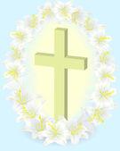 Lilia i krzyża 4 — Wektor stockowy