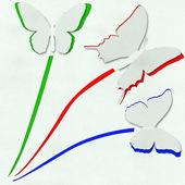 三蝴蝶 — 图库照片