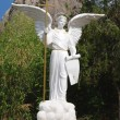 Stock Photo: White angel with cross