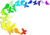 Rainbow and butterfly — Stock Vector