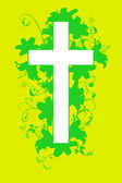 Christian cross and plant  20 — Wektor stockowy