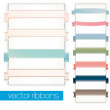 Vector classic vintage ribbons set — Stockvektor