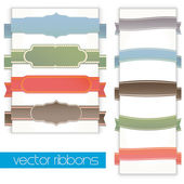 Vector classic vintage ribbons set — Stock Vector