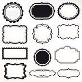 Sistema de vector capítulo ornamental decoración vintage — Vector de stock