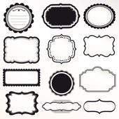 矢量帧设置复古的装饰装修设计 — 图库矢量图片