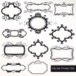 Vector Frame Set ornamental vintage decoration — Stock Vector #12373888