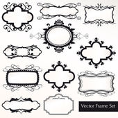 Vector Frame Set ornamental vintage decoration — Stock Vector