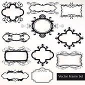 Vector Frame Set ornamental vintage decoration — Stock Vector