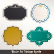 Set of retro labels. Vector illustration. — Stock Vector #12419672