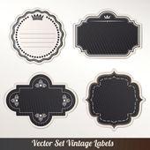 Set of retro labels. Vector illustration. — Cтоковый вектор
