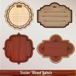 Royalty-Free Stock Vector Image: Set Wooden labels retro vintage classic