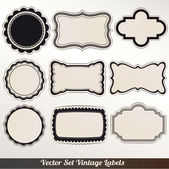 Vector marco etiquetas set decoración ornamental vintage — Vector de stock