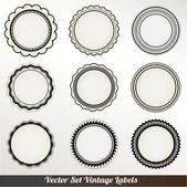 Vector Frame labels Set ornamental vintage decoration — Stock Vector