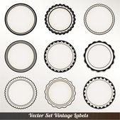 Vector frame etiketten instellen sier vintage decoratie — Stockvector