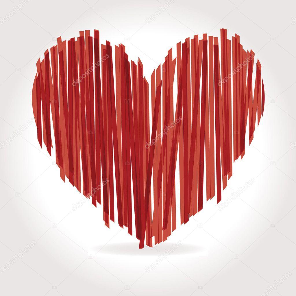 Heart vector brushes illustrator