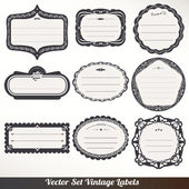 Vector Frame labels Set ornamental vintage decoration — Stock Vector