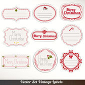 Set of vector Christmas labels — Stock Vector