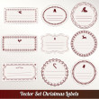 Set of vector Christmas labels — Stock Vector #14519575