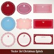 Royalty-Free Stock Vector Image: Set of vector Christmas labels