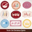 Set of vector Christmas labels — Stock Vector #14564103