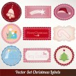 Stock Vector: Set of vector Christmas labels