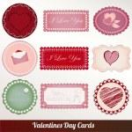 バレンタインの日ヴィンテージ カード ベクトル — ストックベクタ