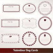 Valentines day vintage card vector — Stock Vector