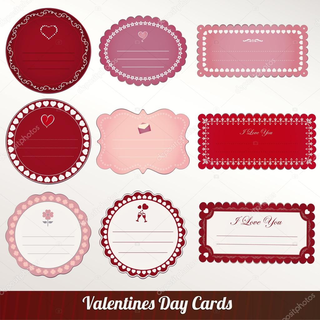 Valentines day vintage card vector  Stok Vektr #14852047
