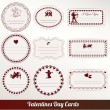Vector set card of valentine's day vintage — Stockvector
