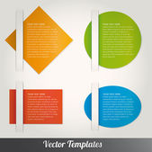 Vector speech templates for text — Stock Vector