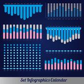 Detail infographic vector illustration. Calendar Information Graphics — Stock Vector