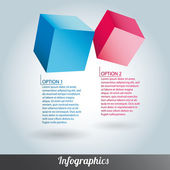 Cube infographics vector — Stock Vector