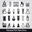 Stock Vector: Chemical test tubes icons illustration vector