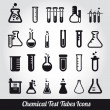 Chemical test tubes icons illustration vector — Stock Vector #19632701