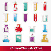 Chemical test tubes icons illustration vector — Stok Vektör