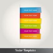 Vector speech templates for text — Stock Vector