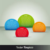 Template, vector eps10 illustration — Stockvector