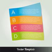 Template, vector eps10 illustration — Stock Vector