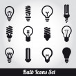 Light bulbs. Bulb icon set — Stock Vector #21747285
