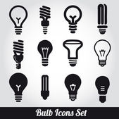 Light bulbs. Bulb icon set — Vecteur