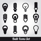 Light bulbs. Bulb icon set — Stock Vector
